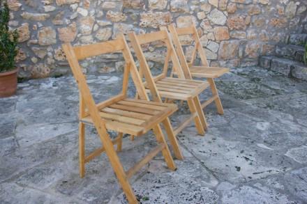 cadira plegable de fusta